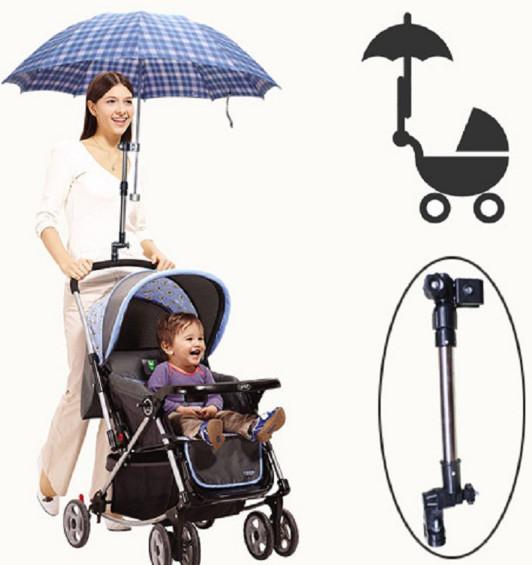 Support porte-parapluie/ombrelle pour poussette ou vélo